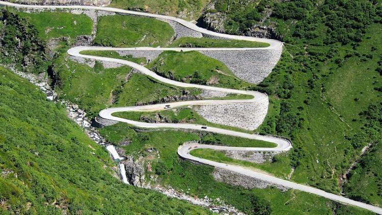 la via storica della Tremola nel Canton Ticino in Svizzera