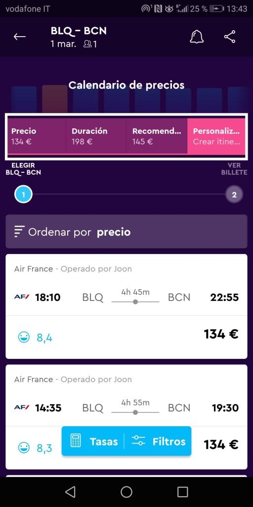 itinerari di volo personalizzati con momondo