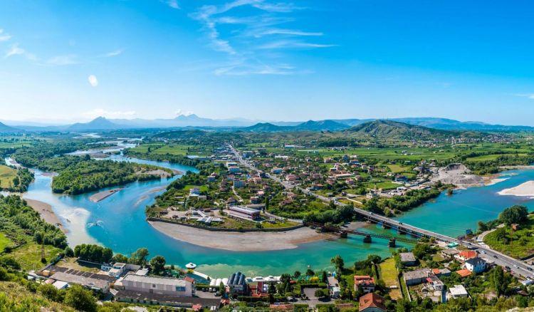 Panorama della città di Scutari (Shkodra)