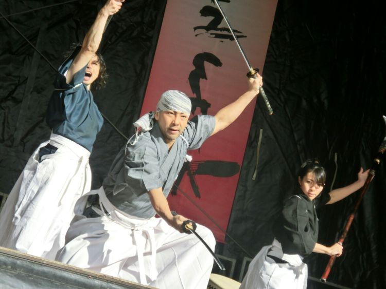 samurai usano le spade giapponesi