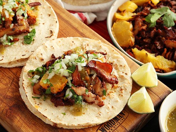 tacos al pastor di Tacos Margaritas y Punto al Mercado de San Miguel