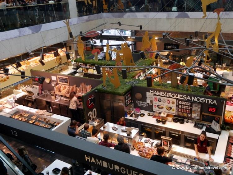 mangiare a Madrid al Mercado de San Antón