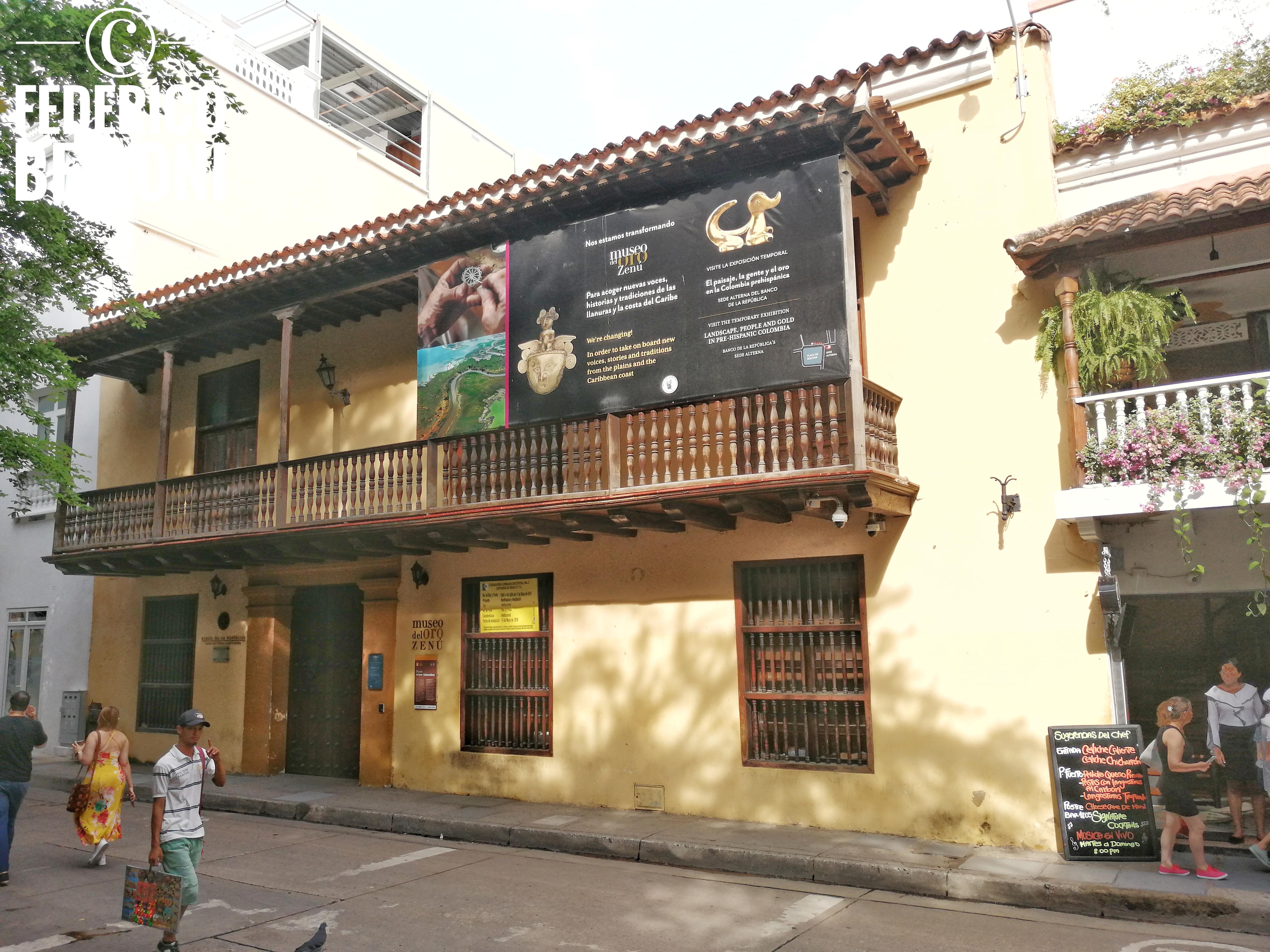 edificio che ospita il museo del oro di cartagena