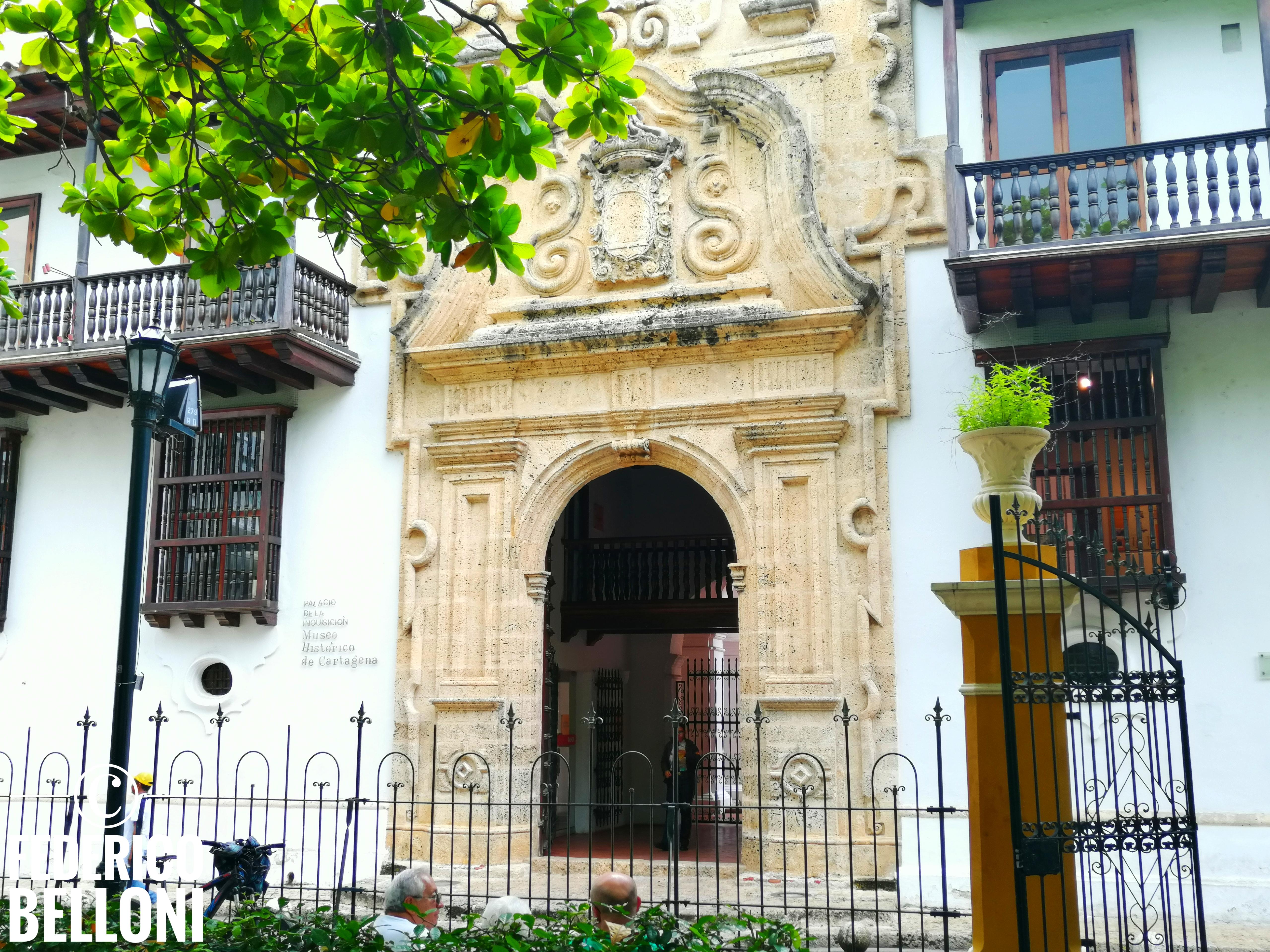 ingresso del palacio de la inquisición a cartagena