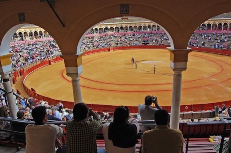 arena della plaza de toros de sevilla
