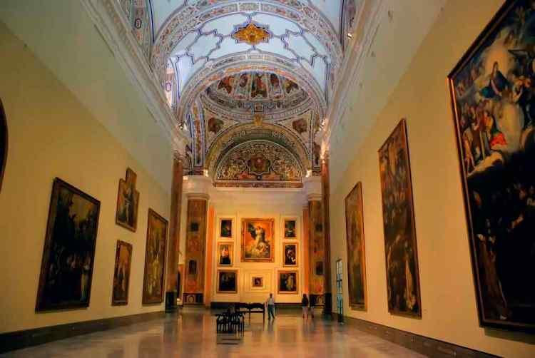 l'area espositiva del museo de bellas artes di siviglia