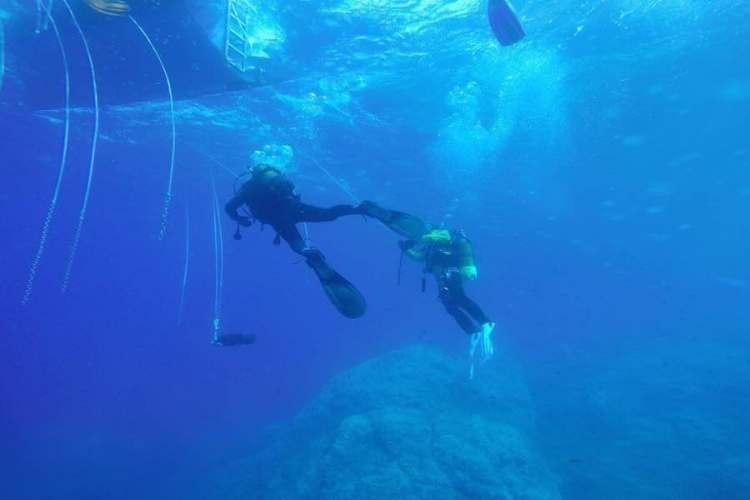 il diving nelle acque delle cinque terre