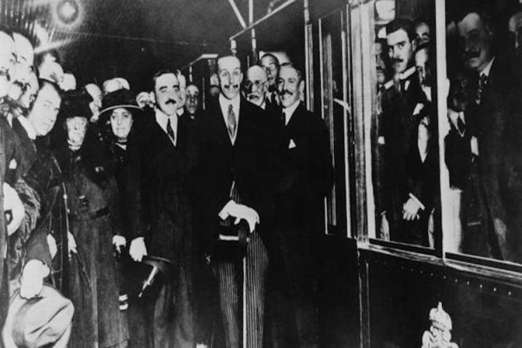 inaugurazione della linea 1 di metro madrid nel 1919