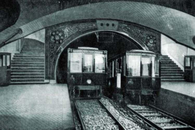 la linea 1 della metro di madrid nel 1919