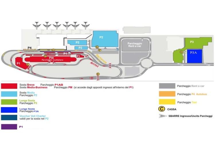 mappa parcheggi aeroporto bari