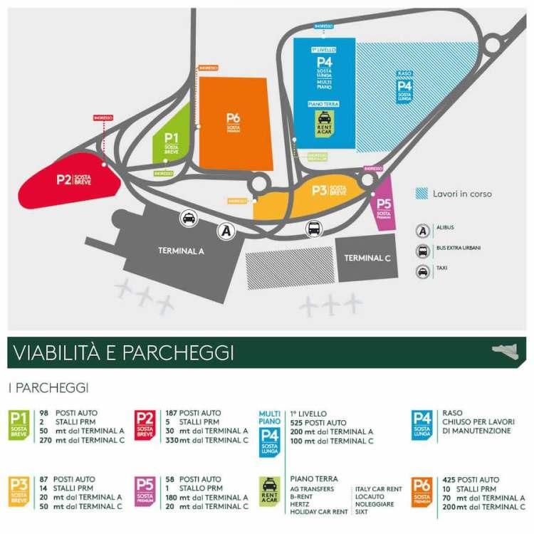 mappa mobilità aeroporto catania