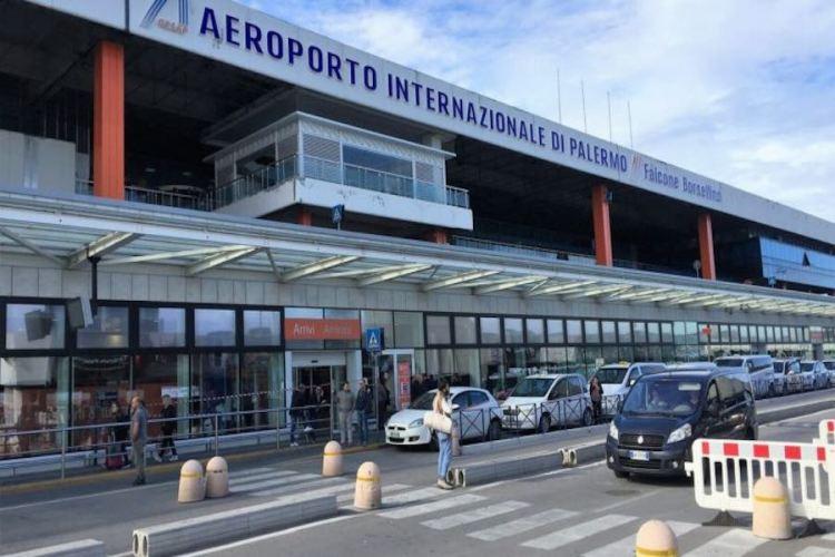 l'entrata dell'aeroporto palermo