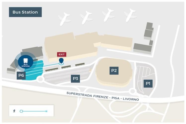 mappa parcheggio aeroporto pisa