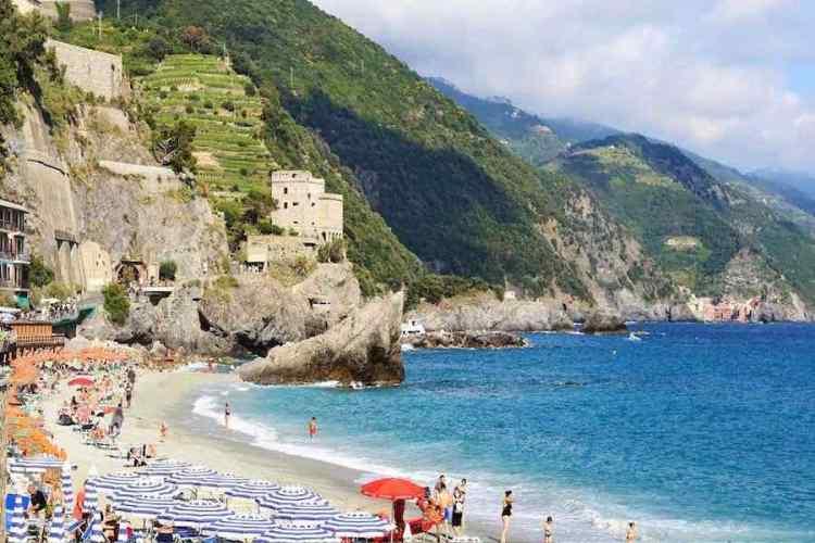 la spiaggia di fegina a monterosso