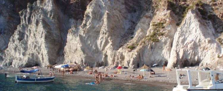 la praia di vinci a lipari nell'arcipelago delle eolie