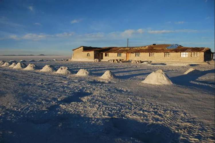 il sale di colchani in bolivia vicino al salar de uyuni