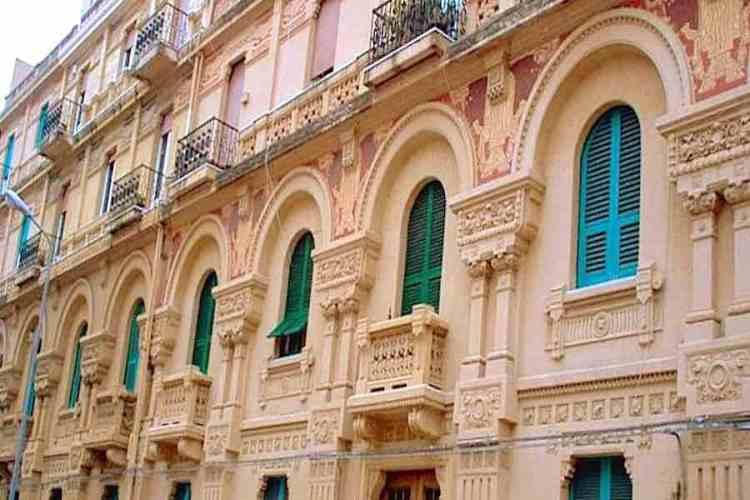 la facciata di palazzo tremi a messina sicilia