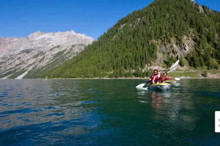 kayak nel lago di livigno
