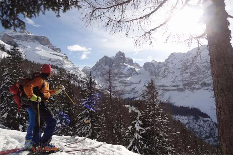 sci alpinismo a madonna di campiglio