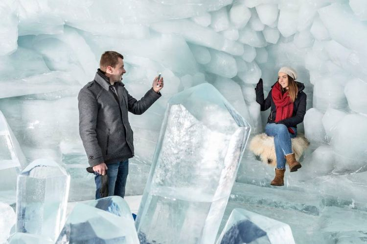 il palazzo di ghiaccio di zermatt