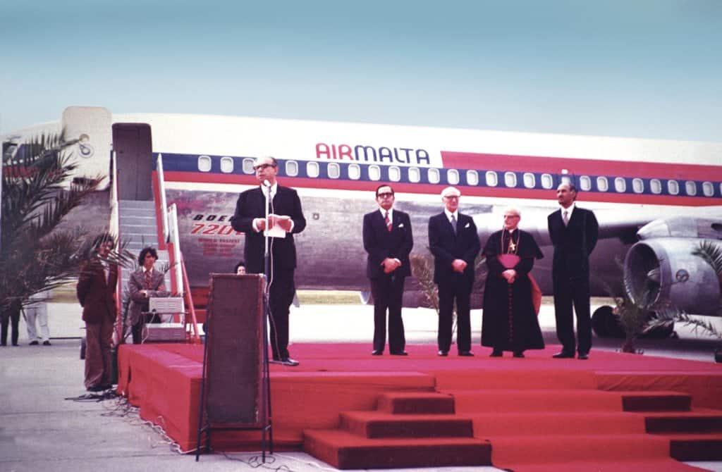 Immagine storica primo volo Air Malta