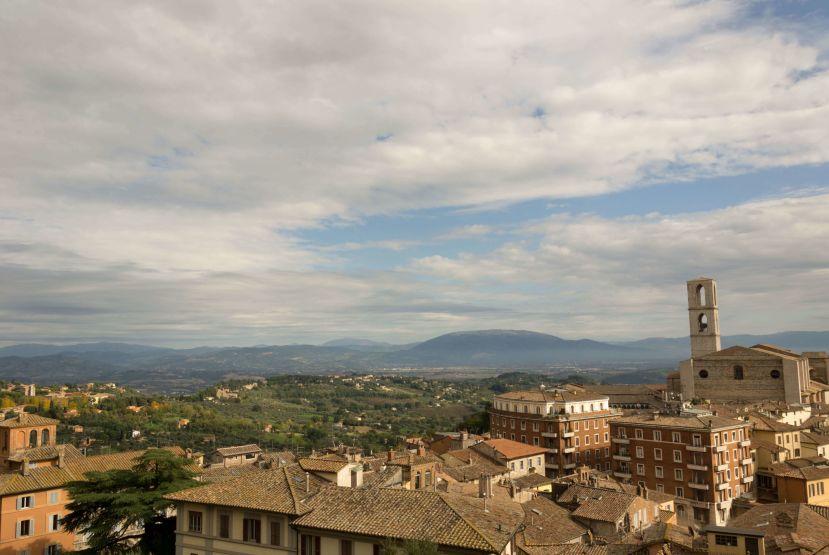 Panorama dal centro storico di Perugia