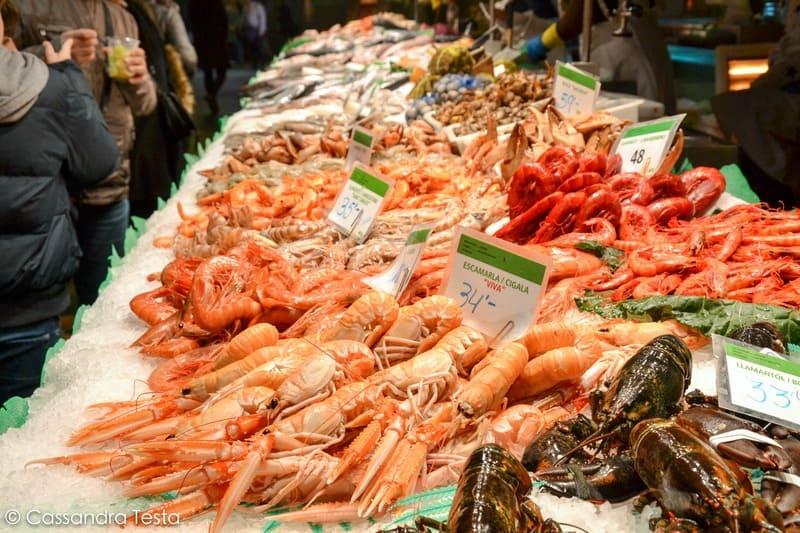 Banco del pesce, La Bocqueria - Barcellona