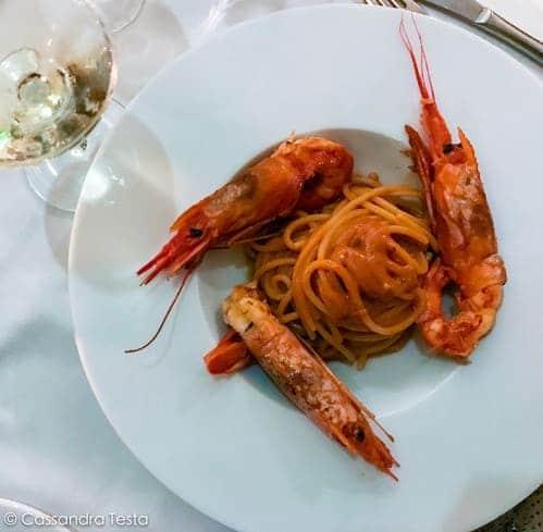 Spaghettoro ai gamberoni e la loro bisque, I Poeti del Gusto - Saronno