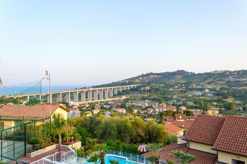 Panorama dal ristorante A Cassa Garba