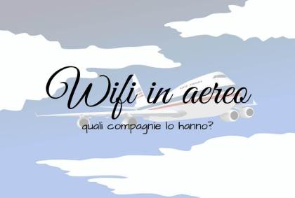 Wifi in aereo