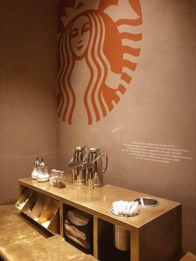 Dettaglio Starbucks a Milano