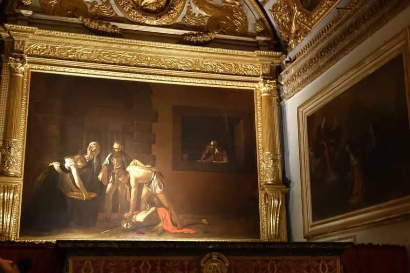 Decapitazione di San Giovanni, Caravaggio