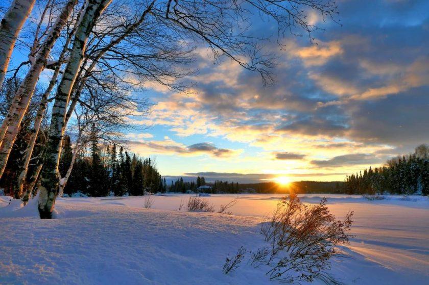 Paesaggio invernale in Canada