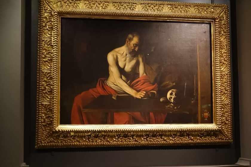 Scrittura di San Girolamo, Caravaggio