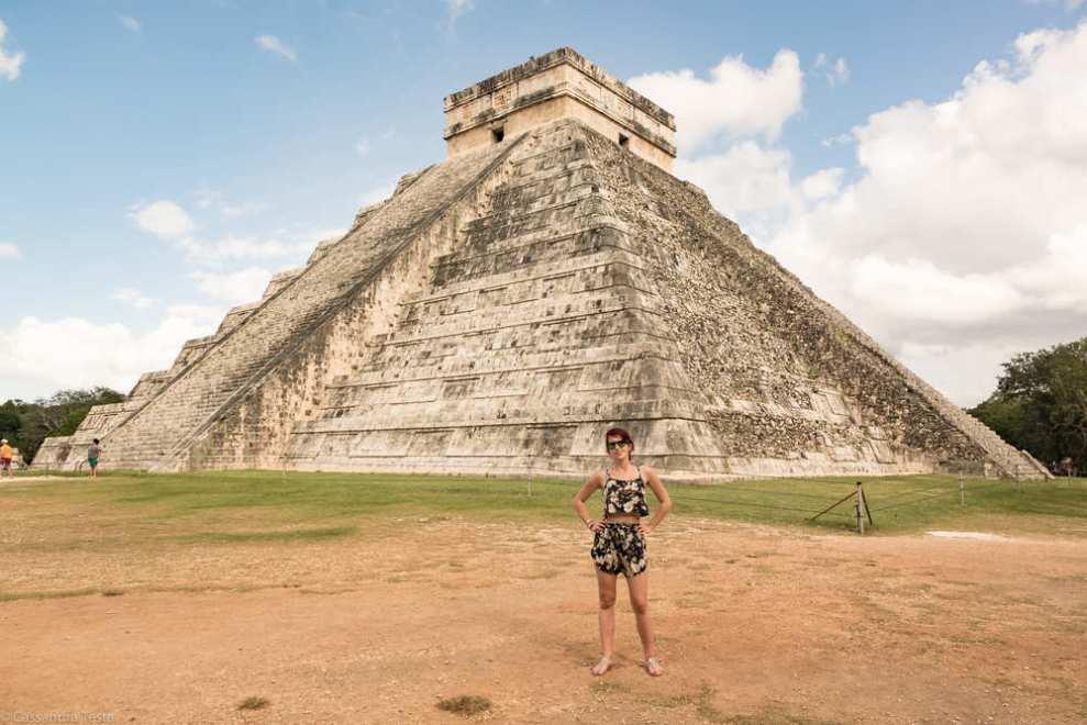 Eccomi a El Castillo, Chichen Itzà