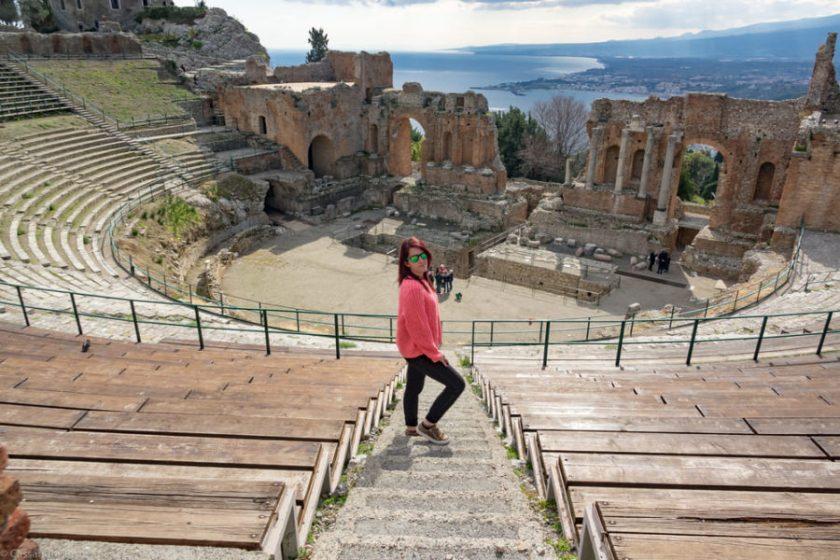 Eccomi al Teatro di Taormina