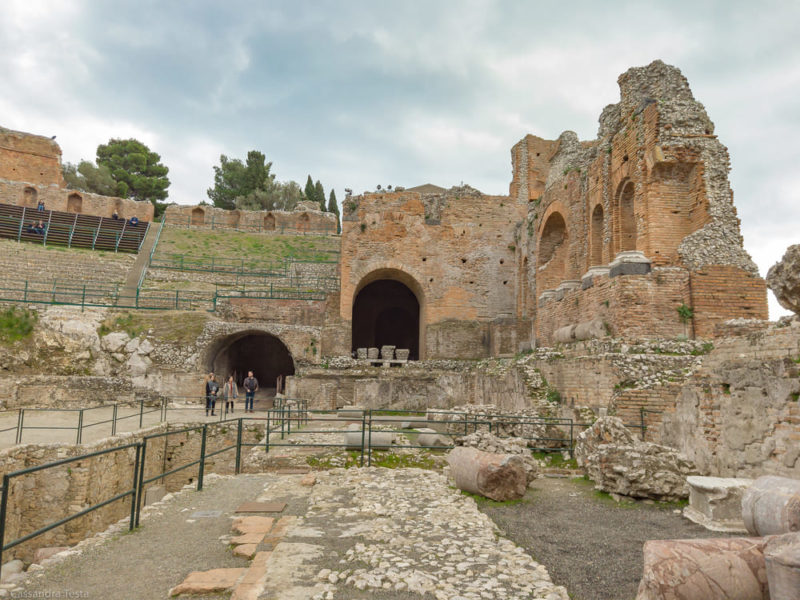 Vista dal basso Teatro di Taormina