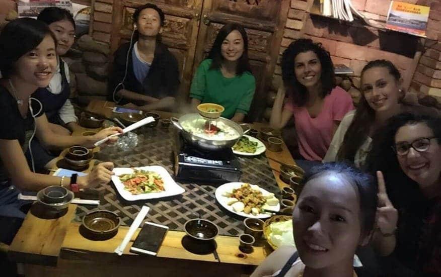 Il mio primo anno in Cina. Una cena con le ragazze cinesi.