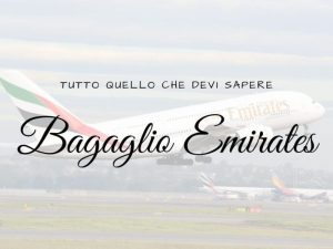 Bagaglio Emirates