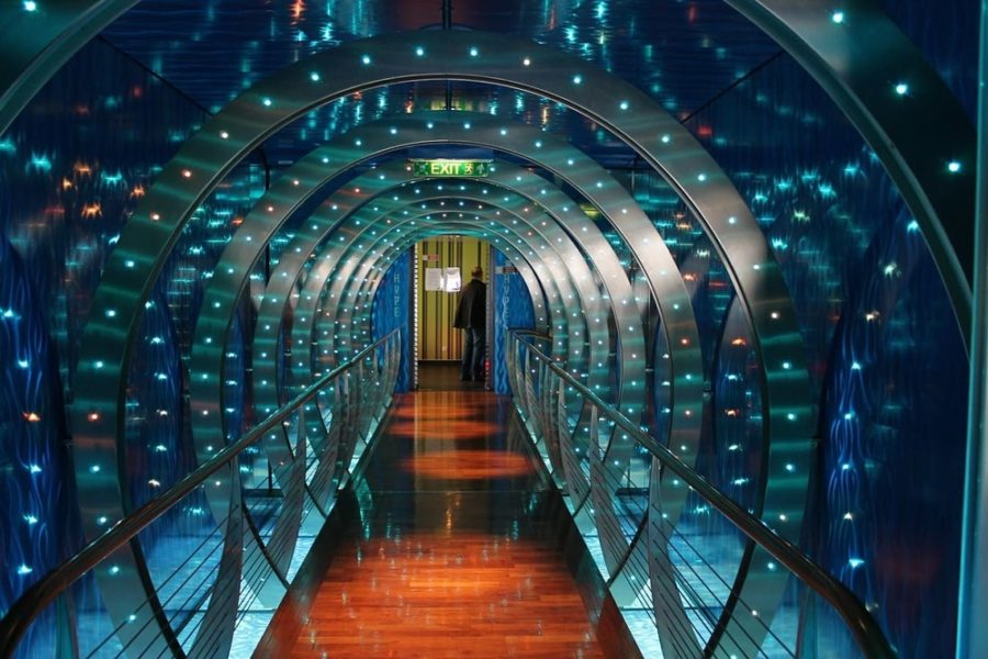 Corridoio di una nave da crociera