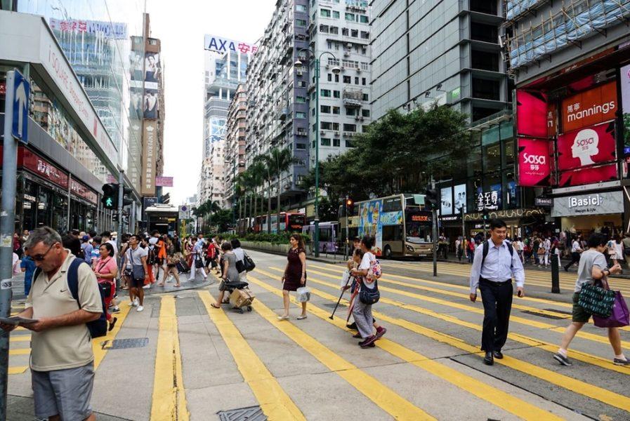 Foto di Nathan Road ad Hong Kong