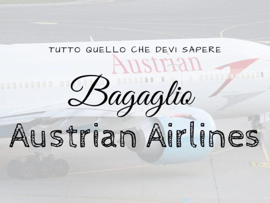 Copertina dell'articolo dedicato al bagaglio della compagnia aerea Austrian Airlines