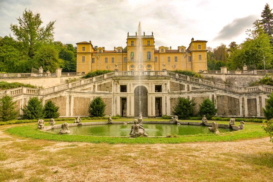 Giardino su due livelli Ingresso Villa della Regina