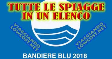 Le spiagge Bandiere Blu 2018