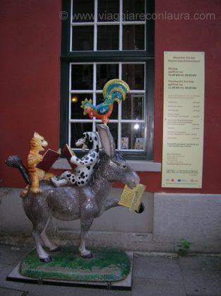 i musicanti di brema statue in città