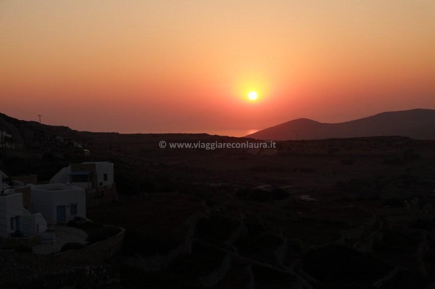 Tramonto dalla terraza del Kyma Sto Phos