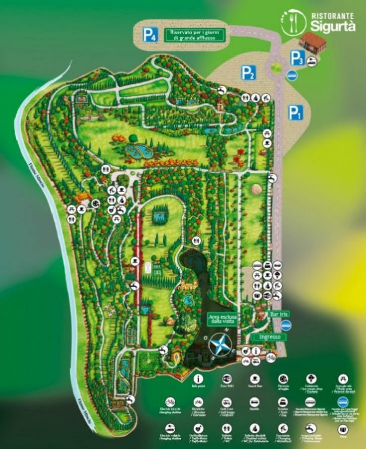 mappa parco giardino sigurtà