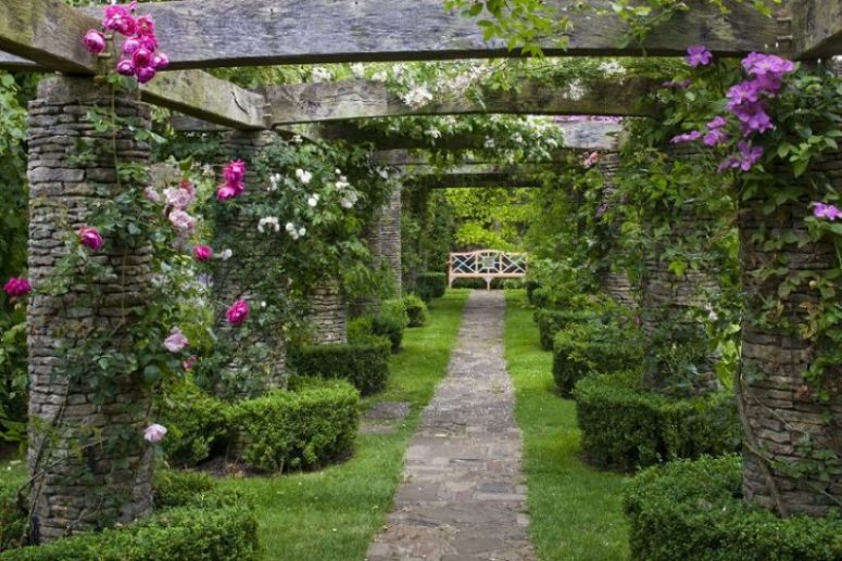 Highgrove - Rose Pergola