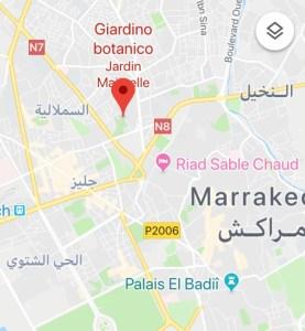 jardin majorelle marrakech come arrivare