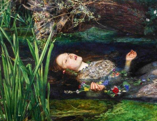 Ofelia, Millais, Preraffaeliti Amore e Desiderio